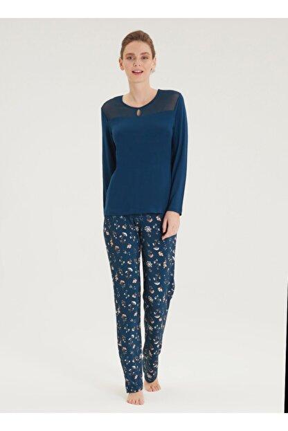 Blackspade Kadın Pijama Takımı 50340 - Mavi