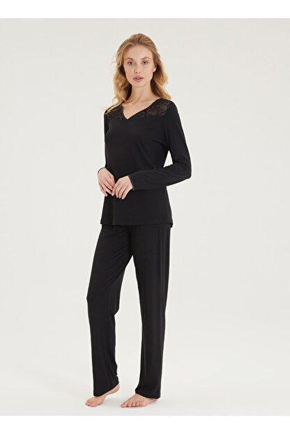 Blackspade Kadın Pijama Takımı 50299 - Siyah