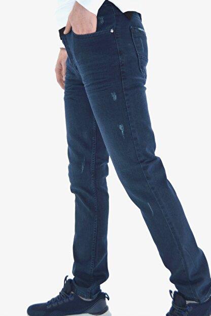 ds danlıspor Erkek Parlement Mavi Yıpratmalı Likralı Kot Pantolon