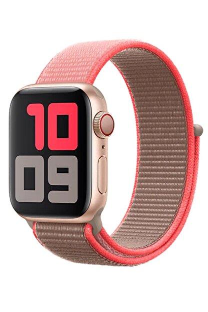 Aksesuarcım Apple Watch 4. Nesil 38 mm Pastel Renkli Tarz Örgü Saat Kordonu