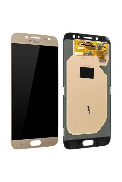 Samsung Galaxy J7 Pro J730 Lcd Ekran Altın Revize