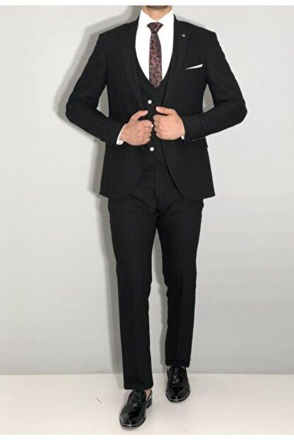SeSevinç Erkek Siyah Slim Fit Takım Elbise