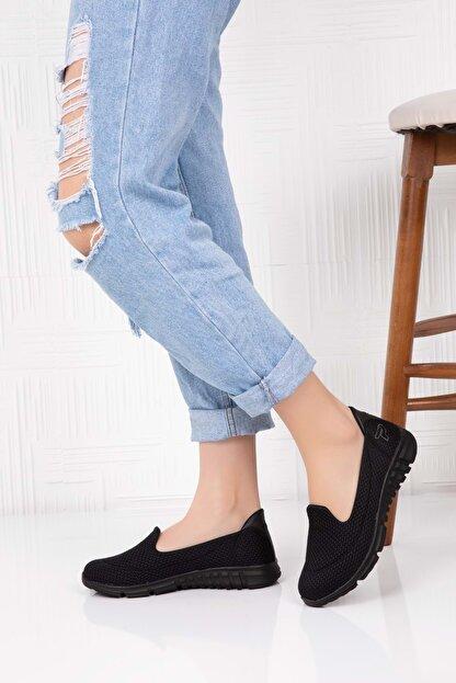 Gondol Kadın Siyah Ortopedik Taban Günlük Ayakkabı 40 Çpç.001