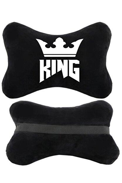 1araba1ev King 2'li Siyah Reno Laguna Oto Koltuk Boyun Yastığı Seyahat Yastık