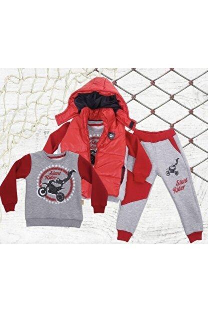 Aymini Kids Erkek Çocuk Kırmızı Kışlık Yelekli Takım