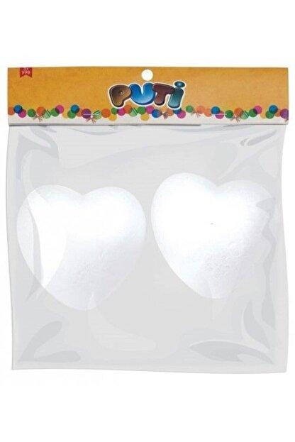 Puti Beyaz Köpük Kalp 10 Cm