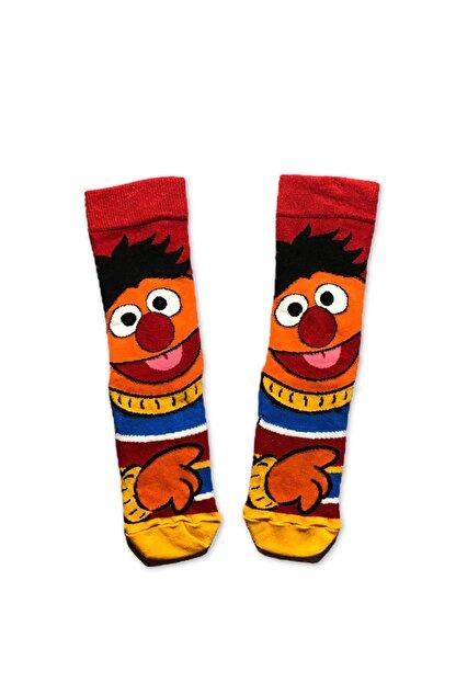 Socks Fabrikası Unisex Renkli Desenli Büdü Çorap