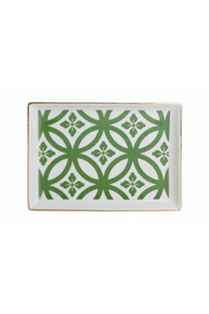 Porland Morocco Kahvaltı Tabağı Desen1 Yeşil 18x13cm 04a+p018773