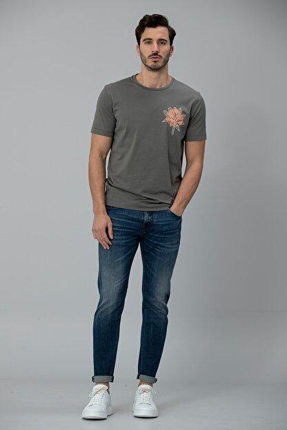 Lufian Aury Smart Jean Pantolon Slim Fit Koyu Mavi