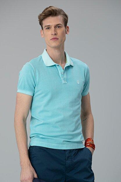 Lufian Vernon Spor Polo T- Shirt Aqua