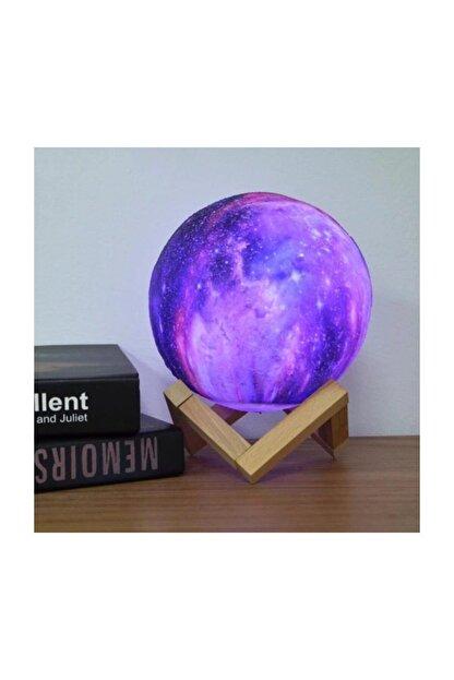 MoonLighting Dekoratif 3d Standlı 6 Renk Değiştiren Galaksi Gezegen Gece Lamba