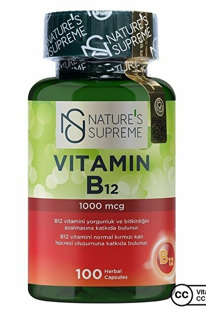 Natures Supreme Vitamin B12 1000 Mcg 100 Kapsül