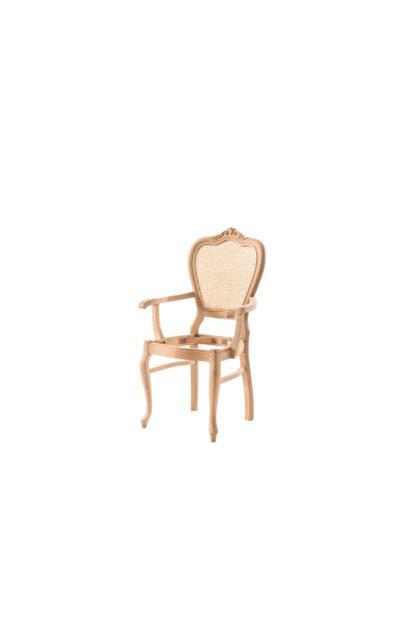 Trend Elysee Trend Elysée Hasırlı Klasik Lükens Oymalı Kollu Sandalye