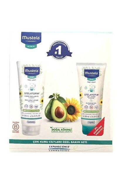 Mustela Stelatopia Emollient Cream 200ml + 200 Ml Jel Şampuan