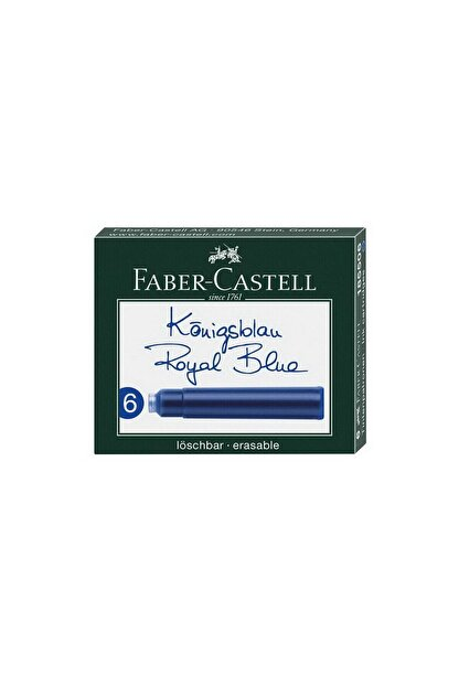 Faber Castell Dolma Kalem Kartuşu 6lı - Royal Blue
