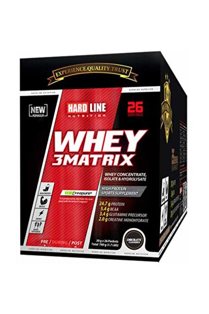 Hardline Whey 3 Matrix Protein Tozu 30 gr Lık 78 Paket Çikolata Aromalı