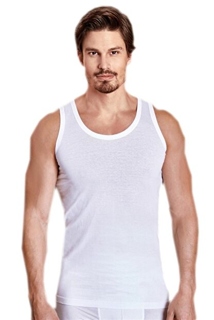 Berrak Erkek Beyaz 6'lı Paket Klasik Atlet