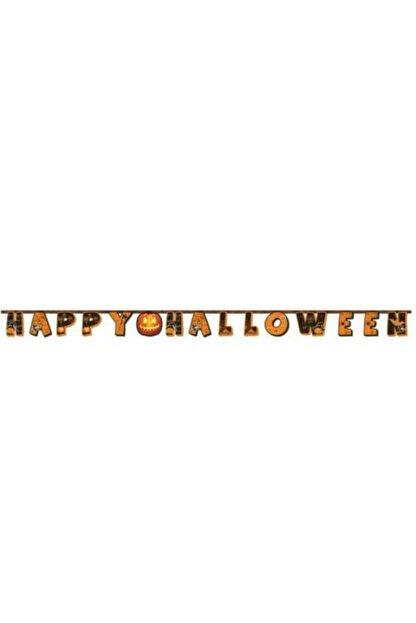Happyland 2 Adet Happy Halloween Banner Cadılar Bayramı Süsleme Açılır Yazı