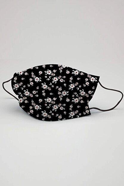 3NNN Çiçek Desen Maske 5 Adet
