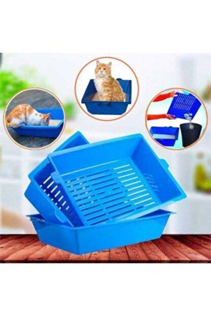 Frame Kedi Tuvaleti 3 Elekli Kedi Tuvaleti Kedi Kumu Kabı Evcil Hayvan Tuvaleti Kedi 3 Elekli Tuvalet Seti