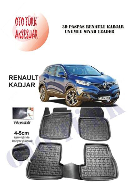 Leader 3d Paspas Renault Kadjar Uyumlu Siyah