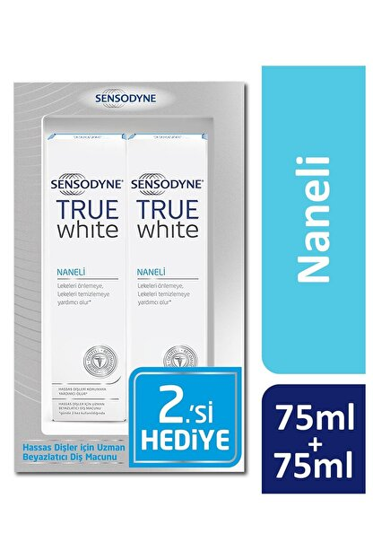 Sensodyne True White 1+1 Diş Macunu