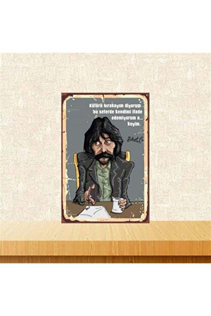 TAKIFİX Küfürü Bırakayım Diyorum Behzat Ç. 20-30 cm Retro Ahşap Poster