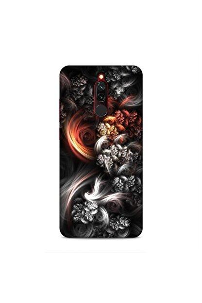Pickcase Xiaomi Redmi 8 Kılıf Desenli Arka Kapak Koyu Çiçekler
