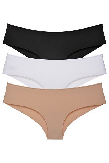 Sensu Kadın Brazilian Panty Lazer Kesim Külot 3'lü