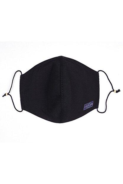 Cosplay Unisex Siyah Yıkanabilir Bez Pamuklu 2 Katlı Filtreli Telli Kumaş Maske