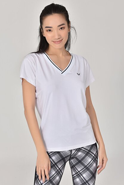 bilcee Beyaz Kadın T-Shirt GS-8029
