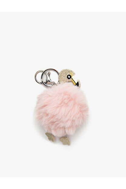 Koton Flamingo Figürlü Ponpon Anahtarlık