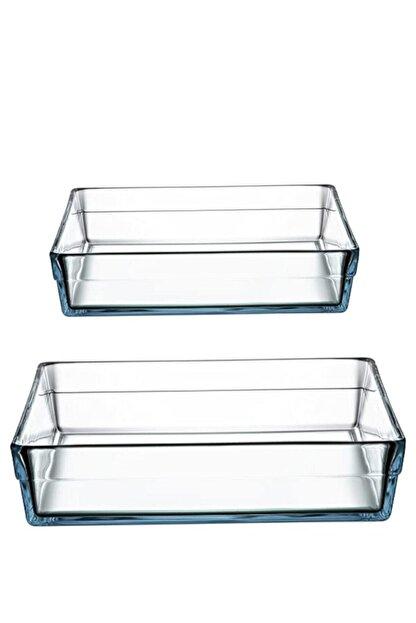 Paşabahçe Borcam Premium Kare Tepsi Set (büyük+küçük)59314-59304