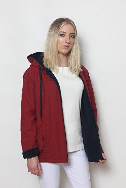 Cottoncool Kadın Bordo Içi Polar Mont