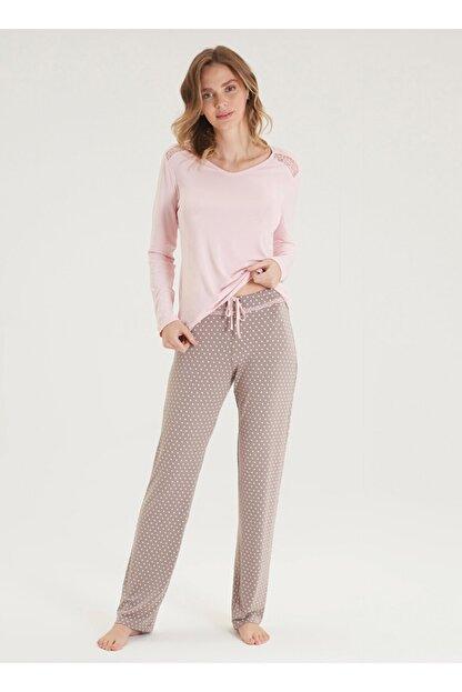 Blackspade Kadın Pijama Takımı 50337 - Pembe