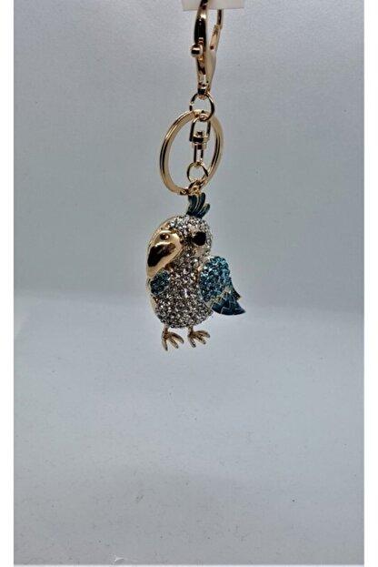 Sln Gümüş Taşlı Kuş Modelli Anahtarlık