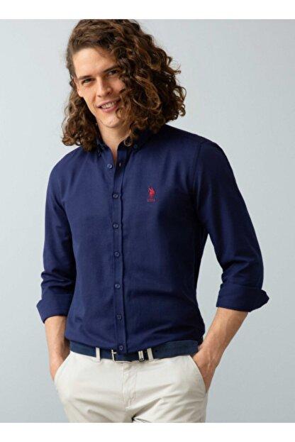 US Polo Assn Erkek Lacivert Gömlek