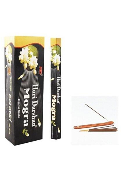 HARİ DARSHAN TÜTSÜ Mogra Çiçeği Kokusu 20 Adet Çubuk Tütsü 1 Adet Kayık Tütsülük Hediye