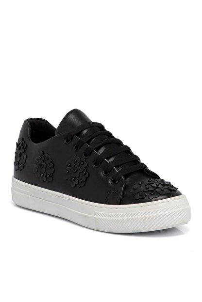 Tergan Kadın Siyah Tekstil  Ayakkabı 64258d62