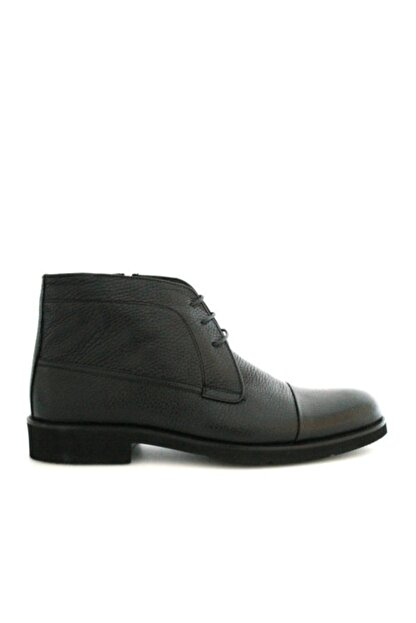 Beta Shoes Erkek Siyah Bağcıklı Bot