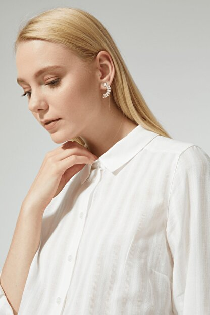 STELLA PULVIS Kadın Beyaz Pamuklu Gömlek