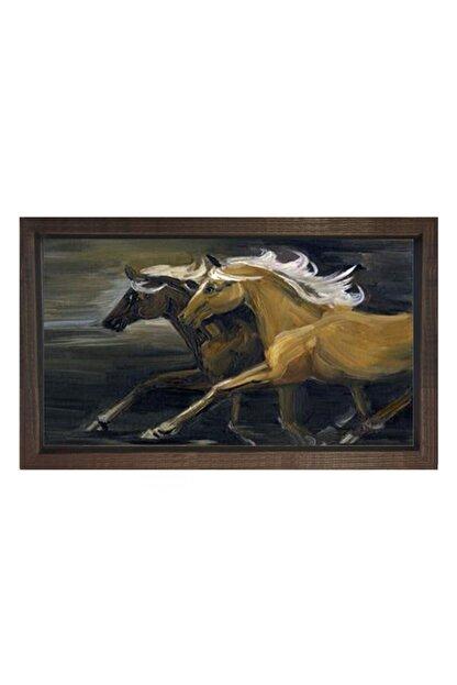 Deniz Çerçeve & Tuval Yarışan Atlar Tablosu Çerçevesiz 100x200