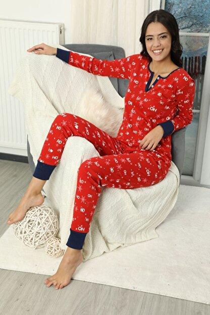 Siyah İnci Düğmeli Interlok Pijama Takımı
