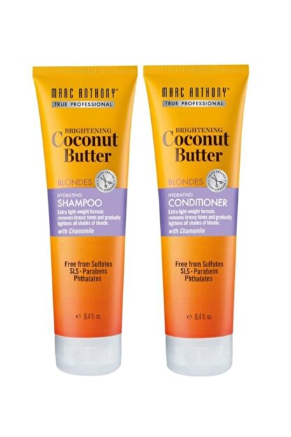 Marc Anthony Coconut Butter Şampuan 250 Ml + Coconut Butter Saç Kremi 250 Ml