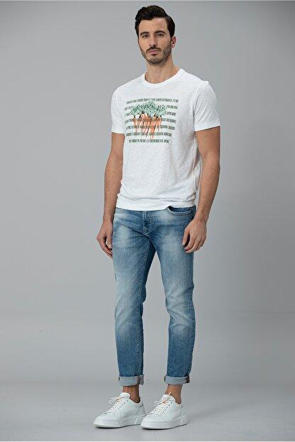 Lufian Gigest Modern Grafik T- Shirt Beyaz