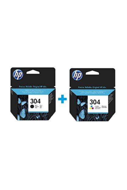HP 304 Siyah N9k06ae + 304 Renkli N9k05ae Orijinal Kartuş Seti