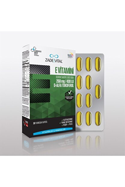 Zade Vital Vitamin E 400iu 30 Kapsül