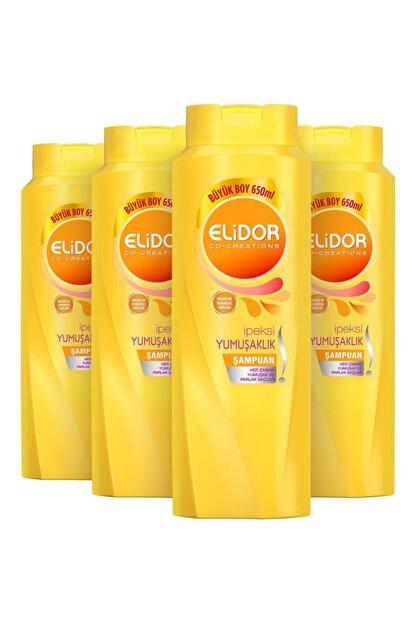 Elidor Ipeksi Yumuşaklık Şampuan 650 Ml X 4lü Set