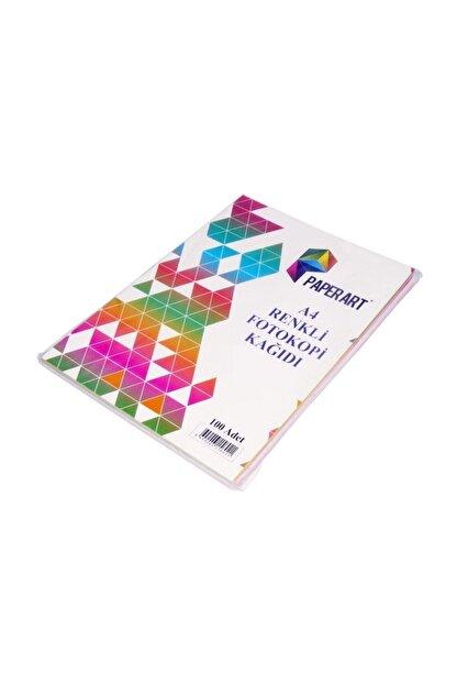Paperart A4 Renkli Fotokopi Kağıdı Fosforlu 5 Renk 100 Adet
