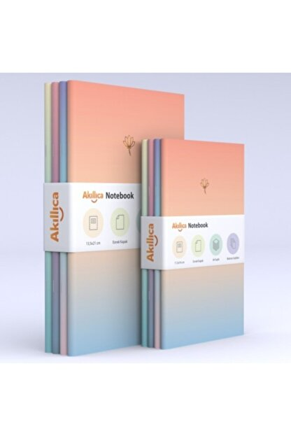 AKILLICA 8'li Defter Set Soft Pastel Notebook Gradient Serisi